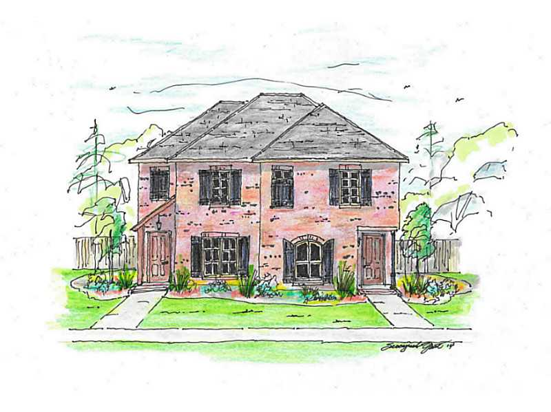 Rendering of new townhome in Lake Charles